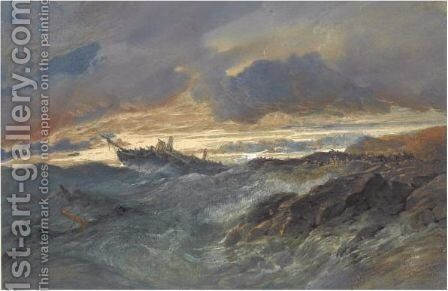 A Shipwreck by Edward Duncan - Reproduction Oil Painting