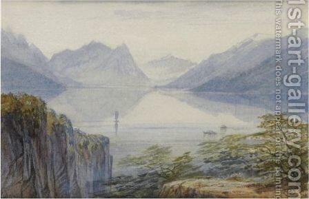 Lugano, Switzerland by Edward Lear - Reproduction Oil Painting