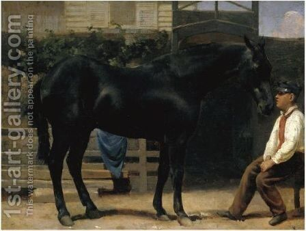 The Midday Rest by Jacques Laurent Agasse - Reproduction Oil Painting