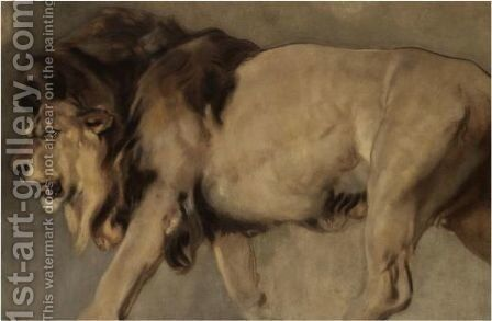 Study Of A Lion by (after) Landseer, Sir Edwin - Reproduction Oil Painting