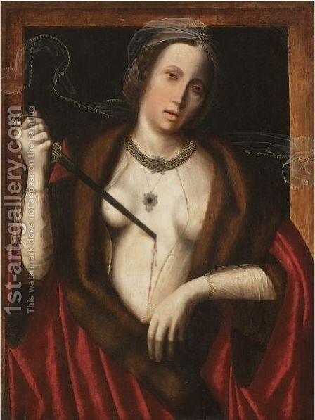 Death Of Lucretia by Belgian Unknown Masters - Reproduction Oil Painting