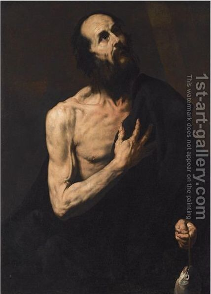 Saint Andrew 3 by (after) Jusepe De Ribera - Reproduction Oil Painting