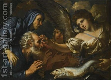 The Healing Of Tobias by Girolamo Troppa - Reproduction Oil Painting
