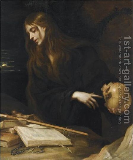 The Penitent Magdalene by Mateo the Younger Cerezo - Reproduction Oil Painting
