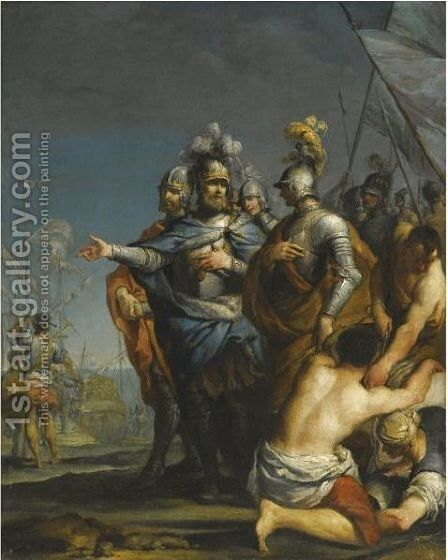Saint Louis Departing For The Crusades by Antonio Gionima - Reproduction Oil Painting