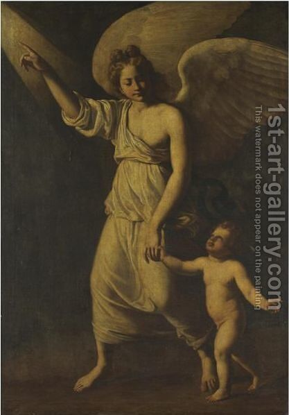 The Guardian Angel by Antiveduto Gramatica - Reproduction Oil Painting