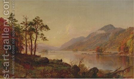 Lake George by Jasper Francis Cropsey - Reproduction Oil Painting