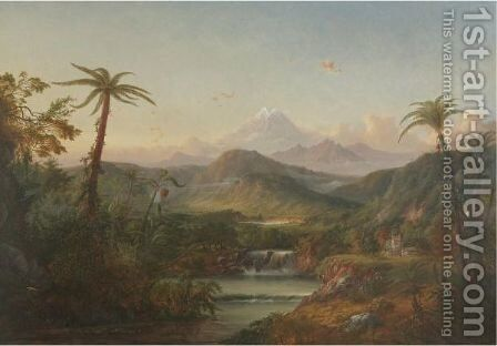 Chimborazo, Queen Of The Andes by Alexander Francois Loemans - Reproduction Oil Painting
