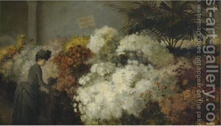 The Chrysanthemum Show by Abbott Fuller Graves - Reproduction Oil Painting