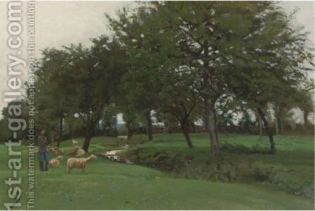 Green Pastures by Edward Darley Boit - Reproduction Oil Painting