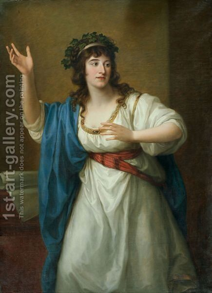 Teresa Bandettini-Landucci Von Luccateresa by Angelica Kauffmann - Reproduction Oil Painting