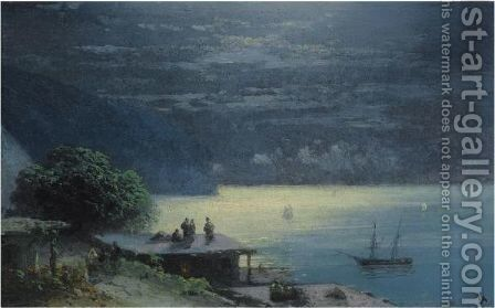 Crimean Coast By Moolight by Ivan Konstantinovich Aivazovsky - Reproduction Oil Painting