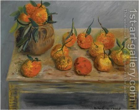 Still Life With Oranges by Boris Dmitrievich Grigoriev - Reproduction Oil Painting