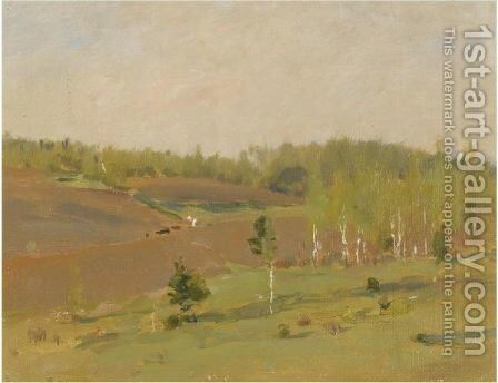 The Tilled Field, Spring by Isaak Ilyich Levitan - Reproduction Oil Painting