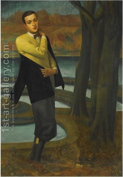 Portrait Of Arturo Lopez-Willshaw by Alexander Evgenievich Yakovlev - Reproduction Oil Painting