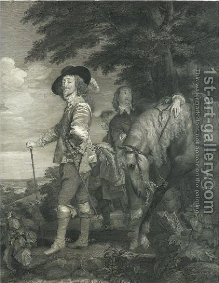 Carolo I (Charles I In The Hunting-Field) by (after) Dyck, Sir Anthony van - Reproduction Oil Painting