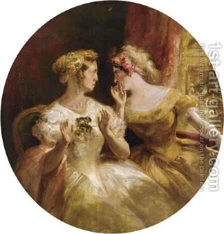 Gossips At The Opera by (after) Cruikshank, George - Reproduction Oil Painting