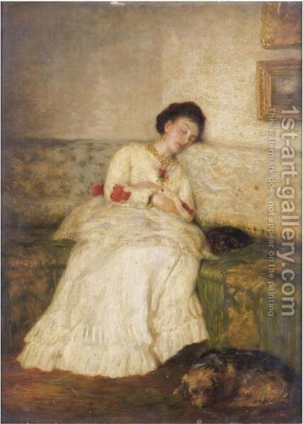 Asleep by (after) Sir William Quiller-Orchardson - Reproduction Oil Painting