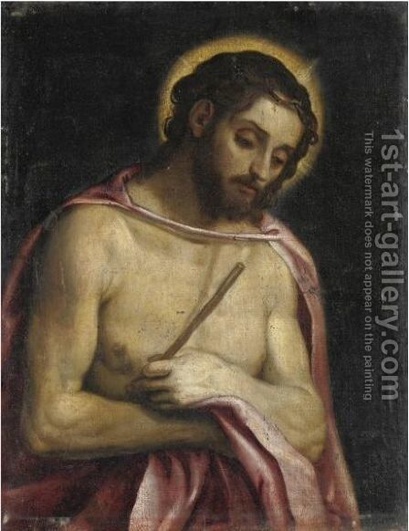 Ecce Homo by (after) Jacopo D'Antonio Negretti (see Palma Giovane) - Reproduction Oil Painting