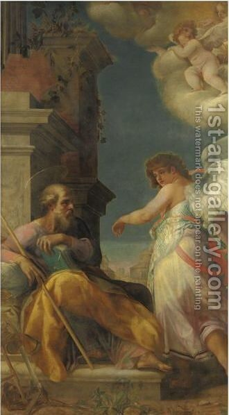 Il Sogno Di Giuseppe by Italian School - Reproduction Oil Painting
