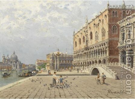 The Doge's Palace, Venice by Antonietta Brandeis - Reproduction Oil Painting