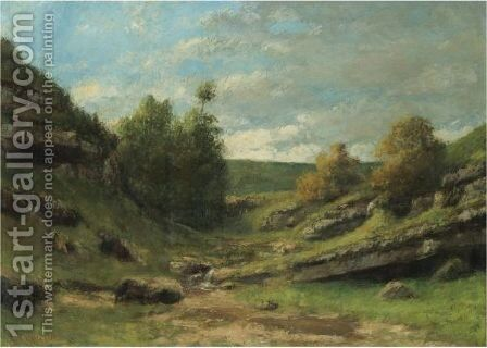 La Vallee Rocheuse 2 by Gustave Courbet - Reproduction Oil Painting