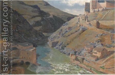 The River Tajo, Toledo by Aureliano de Beruete y Moret - Reproduction Oil Painting