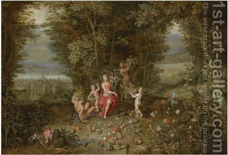Allegory Of Earth by (after) Jan The Elder Brueghel - Reproduction Oil Painting
