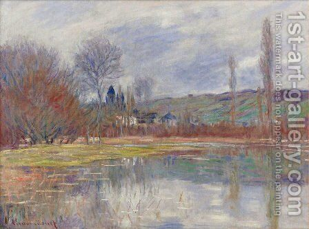 Printemps A Vetheuil by Claude Oscar Monet - Reproduction Oil Painting