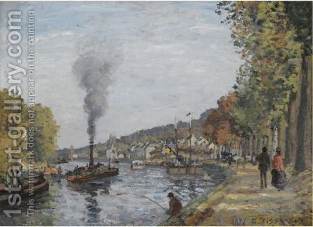La Seine A Bougival by Camille Pissarro - Reproduction Oil Painting