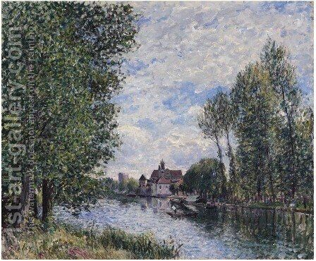 Ete A Moret by Alfred Sisley - Reproduction Oil Painting