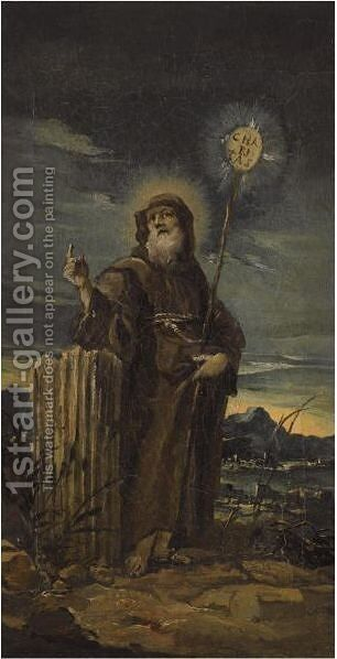 Saint Francis Of Paola by (after) Francesco Guardi - Reproduction Oil Painting