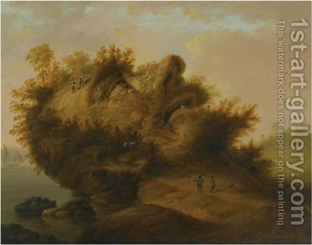 An Anthropomorphic Landscape With The Profile Of A Man's Head by (after) Johann Christian Vollerdt Or Vollaert - Reproduction Oil Painting