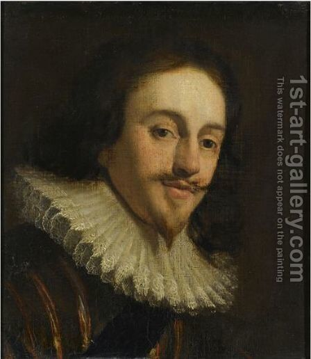 Portrait Of Charles I by Gerrit Van Honthorst - Reproduction Oil Painting