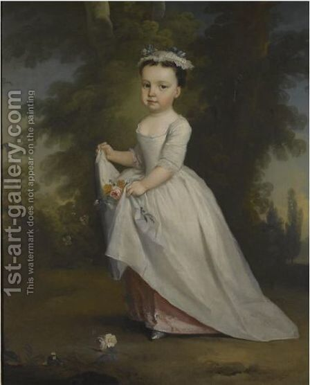 Portrait Of A Child by (after) George Knapton - Reproduction Oil Painting