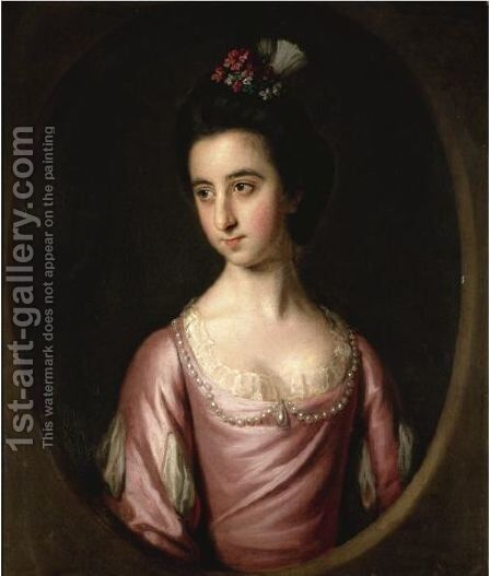 Portrait Of A Girl by Sir Nathaniel Dance-Holland - Reproduction Oil Painting