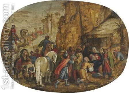 The Adoration Of The Magi by (after) Antonio Tempesta - Reproduction Oil Painting