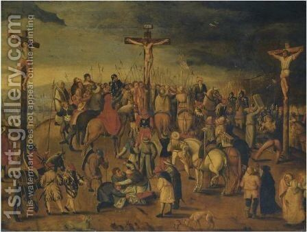 Crucifixion by (after) Louis De Caullery - Reproduction Oil Painting