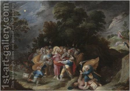 The Arrest Of Christ by (after) Frans II Francken - Reproduction Oil Painting