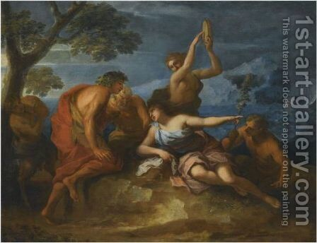 Bacchus And Ariadne by Antoine Coypel - Reproduction Oil Painting