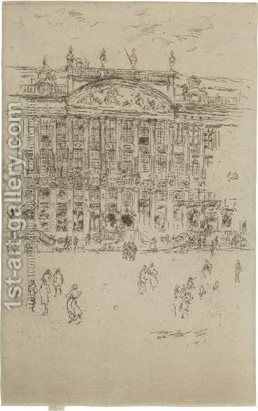 Grand Place, Brussels by James Abbott McNeill Whistler - Reproduction Oil Painting