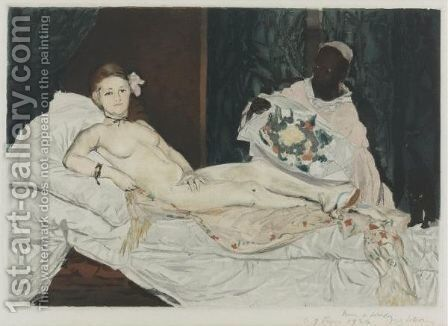 Olympia by (after) Edouard Manet - Reproduction Oil Painting