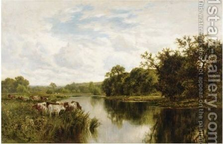 Near Henley On Thames by Henry Hillier Parker - Reproduction Oil Painting