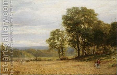 The Harvesters by Alfred Glendening - Reproduction Oil Painting