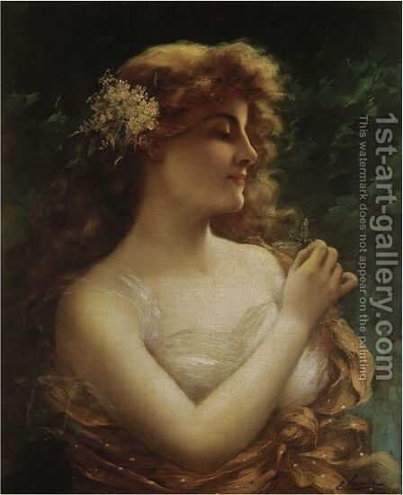 The Dragonfly by Emile Vernon - Reproduction Oil Painting