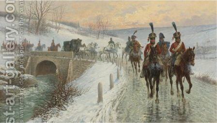 Napoleon's Entry Into Berlin by Jan van Chelminski - Reproduction Oil Painting