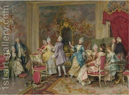 A Game Of Tag by Arturo Ricci - Reproduction Oil Painting