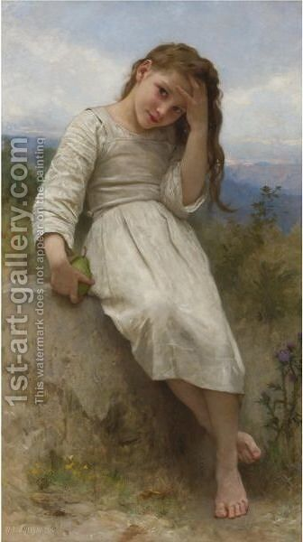 La Petite Maraudeuse by William-Adolphe Bouguereau - Reproduction Oil Painting