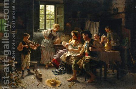 Admiring The Baby by Giovanni Battista Torriglia - Reproduction Oil Painting