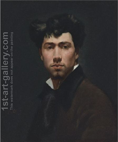 Portrait Of A Young Man by (after) Giovanni Boldini - Reproduction Oil Painting